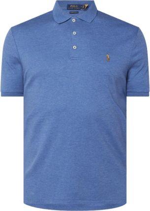 Koszulka polo o kroju custom slim fit z wyhaftowanym logo - Ceny i opinie T-shirty i koszulki męskie WOPW
