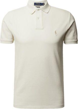 Koszulka polo o kroju custom slim fit z wyhaftowanym logo - Ceny i opinie T-shirty i koszulki męskie PEUT