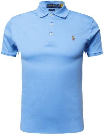 Koszulka polo o kroju custom slim fit z wyhaftowanym logo - Ceny i opinie T-shirty i koszulki męskie HQAE