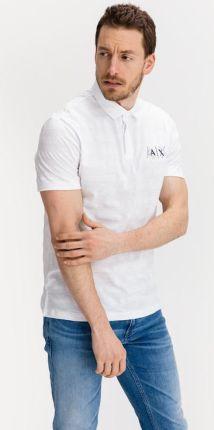 Armani Exchange Polo Koszulka Biały - Ceny i opinie T-shirty i koszulki męskie SPLC