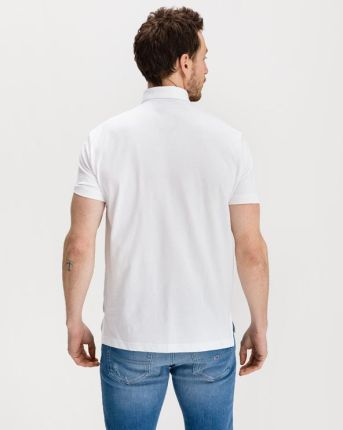 Armani Exchange Polo Koszulka Biały - Ceny i opinie T-shirty i koszulki męskie FHTX