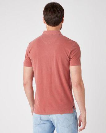 Wrangler Polo Koszulka Czerwony - Ceny i opinie T-shirty i koszulki męskie RIYZ