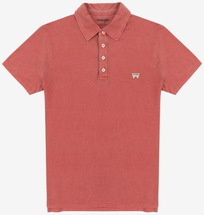 Wrangler Polo Koszulka Czerwony - Ceny i opinie T-shirty i koszulki męskie IEWY