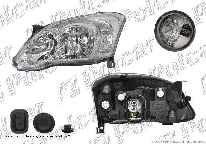 Valeo Lampa Przednia Reflektor świateł Przednich Toyota Corolla E12 Sdnhbkombi Ae11 0104