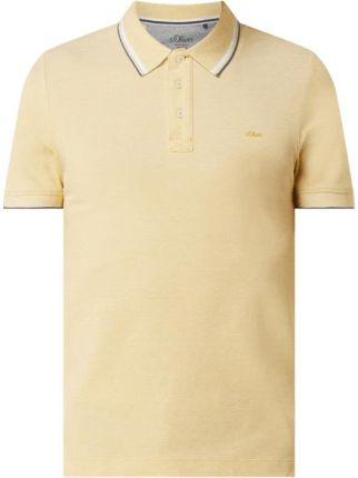 Koszulka polo o kroju slim fit z dodatkiem wiskozy - Ceny i opinie T-shirty i koszulki męskie TKLZ