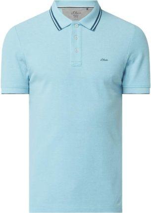 Koszulka polo o kroju slim fit z dodatkiem wiskozy - Ceny i opinie T-shirty i koszulki męskie YTQJ
