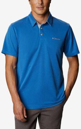 Columbia Nelson Polo Koszulka Niebieski - Ceny i opinie T-shirty i koszulki męskie UJDD