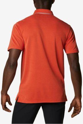 Columbia Nelson Polo Koszulka Pomarańczowy - Ceny i opinie T-shirty i koszulki męskie OFHB