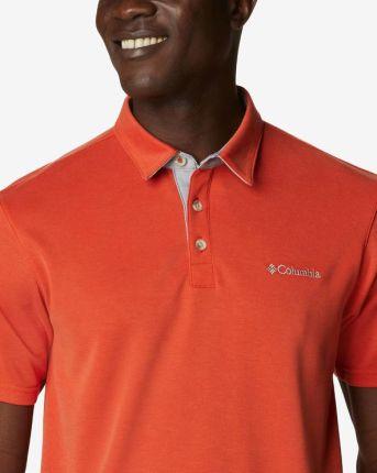 Columbia Nelson Polo Koszulka Pomarańczowy - Ceny i opinie T-shirty i koszulki męskie JXKX