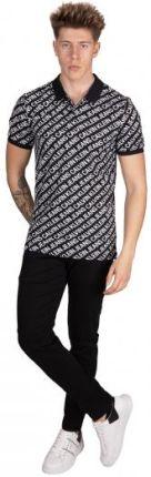 Calvin Klein Jeans Męskie Polo Diagonal Logo Czarny S - Ceny i opinie T-shirty i koszulki męskie HRAY