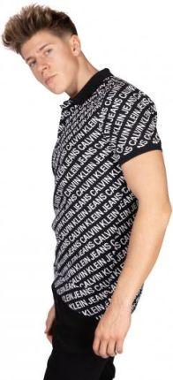 Calvin Klein Jeans Męskie Polo Diagonal Logo Czarny XXL - Ceny i opinie T-shirty i koszulki męskie HRKV