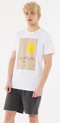 Koszulka męska HOL21 TSM604 Outhorn (biały) - Ceny i opinie T-shirty i koszulki męskie QBMC