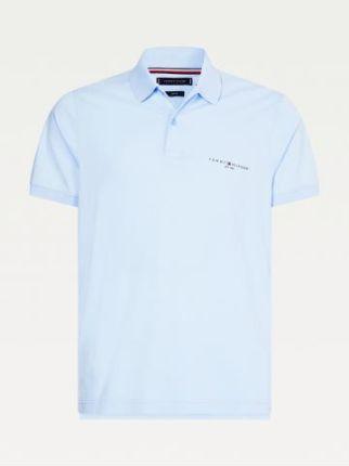 Tommy Hilfiger Męskie Polo Clean Jersey Niebieski S - Ceny i opinie T-shirty i koszulki męskie ZXBT
