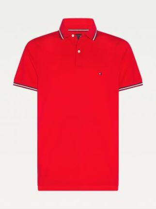 Tommy Hilfiger Męskie Polo Tommy Tipped Czerwony S - Ceny i opinie T-shirty i koszulki męskie KYJD