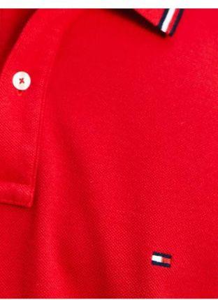 Tommy Hilfiger Męskie Polo Tommy Tipped Czerwony M - Ceny i opinie T-shirty i koszulki męskie KUOI