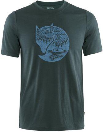 T shirt Fjallraven Abisko Wool Fox dark navy - Ceny i opinie T-shirty i koszulki męskie WOFA