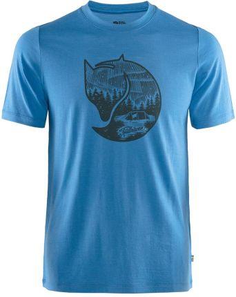 T shirt Fjallraven Abisko Wool Fox un blue - Ceny i opinie T-shirty i koszulki męskie YMLE