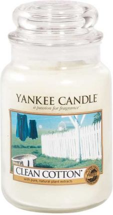 Yankee Candle CLEAN COTTON duży słoik