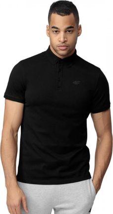 Koszulka Polo 4F Męska PolÓwka Bawełniana Czarna - Ceny i opinie T-shirty i koszulki męskie WXMU