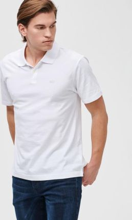 GAP Logo Polo Koszulka Biały - Ceny i opinie T-shirty i koszulki męskie KIZE