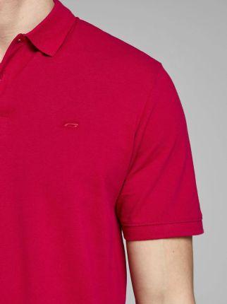 Koszulka polo JackJones Jjebasic czerwony rXS - Ceny i opinie T-shirty i koszulki męskie OJOP