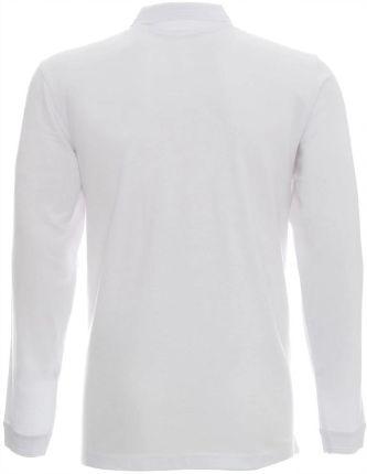 Polo Z Długim Rekawem Męska Biała PolÓwka - 2XL - Ceny i opinie T-shirty i koszulki męskie EGVZ