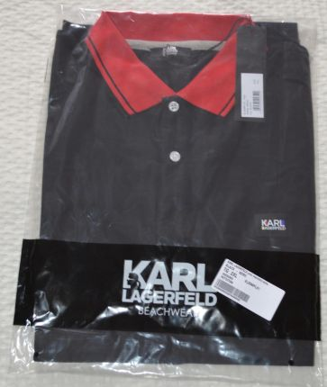 Karl Lagerfeld koszulka polo Pique L - Ceny i opinie T-shirty i koszulki męskie MBSD