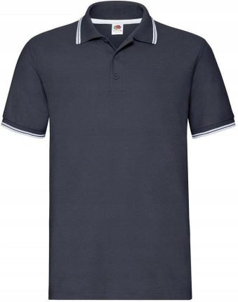 Męska koszulka polo Fruit Prem Tip granat/biał XL - Ceny i opinie T-shirty i koszulki męskie DLKL
