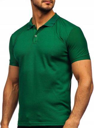 Koszulka Polo Męska Gładka Zielona GD02 Denley_l - Ceny i opinie T-shirty i koszulki męskie HUPC