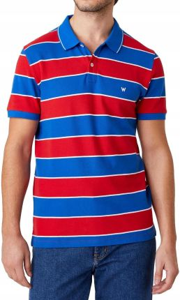 Koszulka Wrangler Ss Polo W7ALKFXA4 Rococco Red L - Ceny i opinie T-shirty i koszulki męskie EGUX