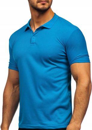 Koszulka Polo Klasyczna Niebieska GD02 Denley_m - Ceny i opinie T-shirty i koszulki męskie UIFY