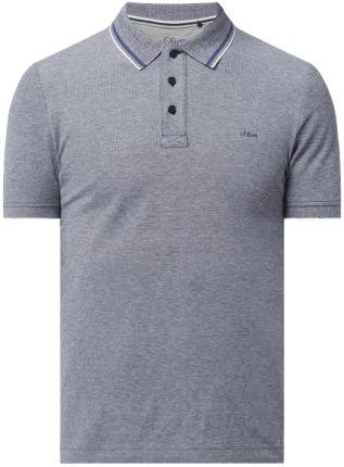 Koszulka polo o kroju slim fit z dodatkiem wiskozy - Ceny i opinie T-shirty i koszulki męskie LTZP