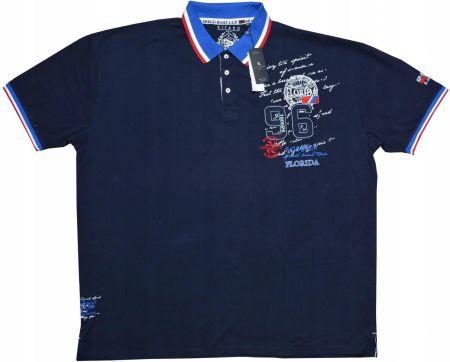 Duża Koszulka Polo Kitaro (granatowa) 6XL - Ceny i opinie T-shirty i koszulki męskie MMLA