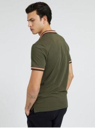 Guess Polo Męskie Nolan Zielony S - Ceny i opinie T-shirty i koszulki męskie QILC