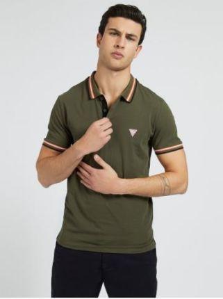 Guess Polo Męskie Nolan Zielony L - Ceny i opinie T-shirty i koszulki męskie MFXT