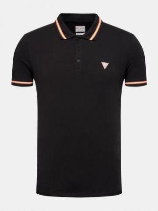 Guess Polo Męskie Nolan Czarny L - Ceny i opinie T-shirty i koszulki męskie DKTU