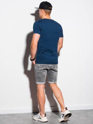 T shirt męski basic S1369 ciemnoniebieski S - Ceny i opinie T-shirty i koszulki męskie AJUT