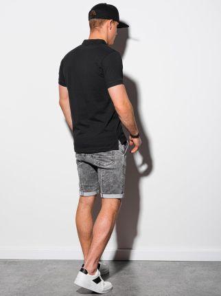 Koszulka męska polo bez nadruku S1374 czarna S - Ceny i opinie T-shirty i koszulki męskie LUFY