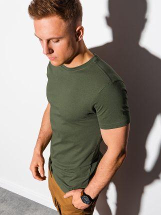 T shirt męski basic S1370 khaki S - Ceny i opinie T-shirty i koszulki męskie TSDJ