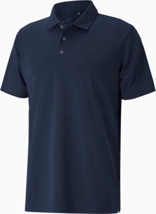 PUMA Meska Golfowa Koszulka Polo Rotation, Niebieski, Odzież - Ceny i opinie T-shirty i koszulki męskie RECW