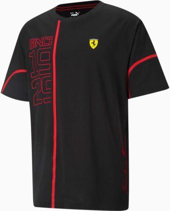 PUMA Charakterystyczny Męski T shirt Z Grafiką Scuderia Ferrari, Czarny Czerwony, rozmiar XS, Odzież - Ceny i opinie T-shirty i koszulki męskie OHUH