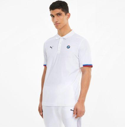 PUMA Męska Koszulka Polo BMW M Motorsport, Biały, rozmiar XS, Odzież - Ceny i opinie T-shirty i koszulki męskie FWTF