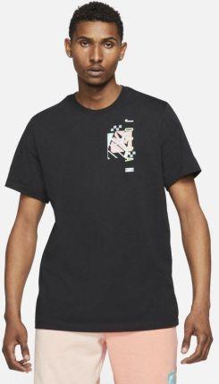 Jordan Męski T shirt z krÓtkim rękawem Jordan Air Futura Czerń - Ceny i opinie T-shirty i koszulki męskie IWLW