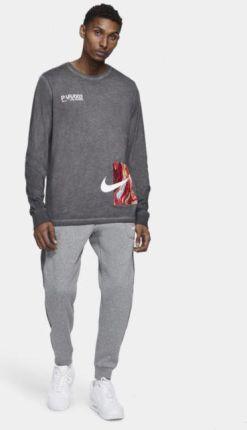 Nike Męski T shirt z długim rękawem Nike Sportswear House of Innovation (Paris) Czerń - Ceny i opinie T-shirty i koszulki męskie QCEB