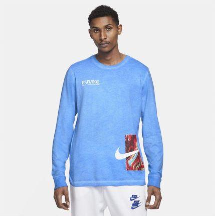 Nike Męski T shirt z długim rękawem Nike Sportswear House of Innovation (Paris) Niebieski - Ceny i opinie T-shirty i koszulki męskie PPUT
