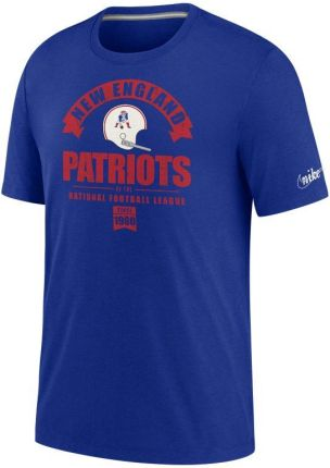 Nike T shirt męski z mieszanki trzech materiałÓw Nike Historic (NFL Patriots) Niebieski - Ceny i opinie T-shirty i koszulki męskie HGDE