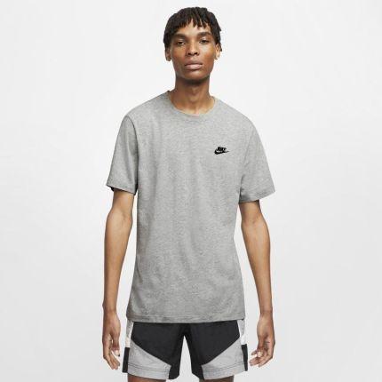 Nike T shirt męski Nike Sportswear Club Szary - Ceny i opinie T-shirty i koszulki męskie ODUD