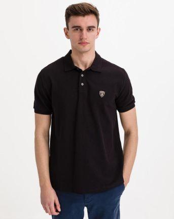 Lamborghini Polo Koszulka Czarny - Ceny i opinie T-shirty i koszulki męskie QSKI