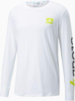 PUMA X CLOUD9 Carry On Męski T shirt Esportowy, Biały, Obuwie - Ceny i opinie T-shirty i koszulki męskie KEYT