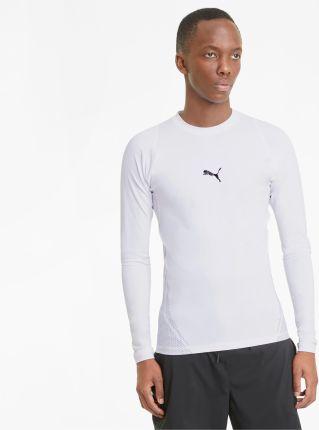 PUMA Męski T shirt Treningowy Z Długim Rękawem EXO ADAPT, Biały, rozmiar XS, Obuwie - Ceny i opinie T-shirty i koszulki męskie LFLS